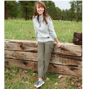 NWT LL Bean Favorite Fit Cargo Olive Pant